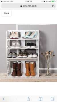 DLine wood plastic shoe rack Fairfax, 22033
