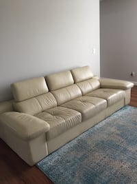 2 leather sofas, new condition  Calgary, T1Y