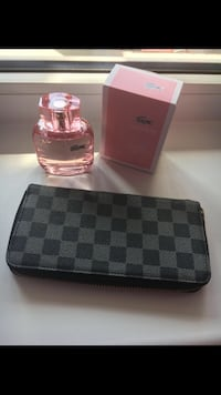 Lacoste fragrance spray bottle with box and Damier Graphite Louis Vuitton leather long wallet Санкт-Петербург, 196143