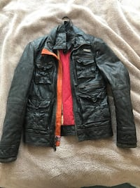 Superdry black leather jacket Weehawken, 07086