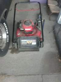 red and black push mower Keyes, 95328