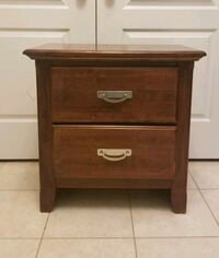 brown wooden 2-drawer nightstand Vaughan