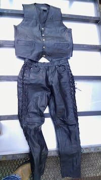 Leather Lace up leather pants 34
