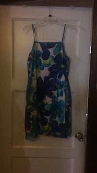blue and white floral sleeveless dress Jersey City, 07306