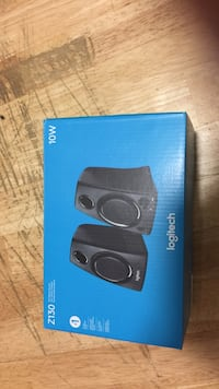 (brand new) black and blue logitech wireless speaker box Toronto, M5C