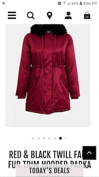 NWT PARKA FROM TORRID SIZE 2