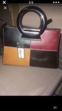 Red,tan and dark brown purse Bowie, 20715