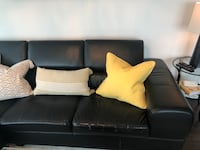 Leather section sofa for sale  Toronto, M4N