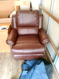 brown leather recliner sofa chair Golden, 80401