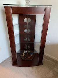 Audio video TV rack with 3 glass shelf's good looking item Washington, 20010