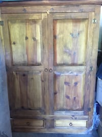 brown wooden TV armoire Austin, 78746