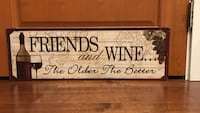 Wine wall sign (2ft long)