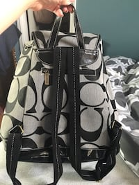 Black & gray Coach Backpack