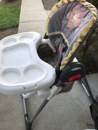 baby's white and gray high chair Surrey, V3S 9V1