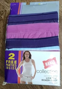 Women's Hanes Low Rise Boxer Briefs 4PK Size 8/XL New Cordell, 73632