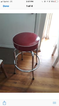 Red vintage stool  Virginia Beach, 23451
