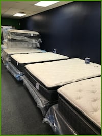 Used Queen Pillowtop Mattress And Box Spring For Sale In