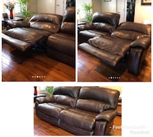 Ashley Furniture Leather Electric recliner sofa