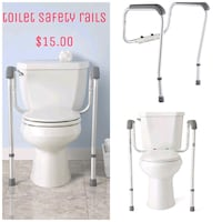 Used like new toilet safety rails $15.00 location cheap Hill area pick Ashland City, 37015