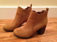 Tan Suede Ankle Boots, size 9.5 Port Coquitlam