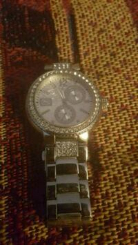 round silver chronograph watch with link bracelet Little Rock, 72212