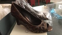 Coldwater Creek New leather open toe wedges new was 110.00 size 6 1/2 Treasure Island, 33706
