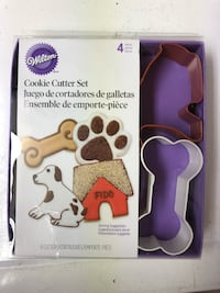 Puppy cookie cutters