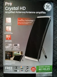 GE PRO BAR HD CRYSTAL HD AMPLIFIED ANTENNA FULL HD 1080P 4K ULTRA HD (40 MILES) Montreal East