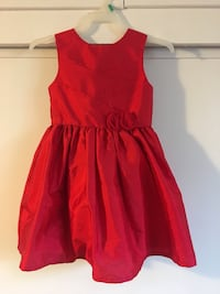 Toddler girl red dress wore once size 3t Pico Rivera, 90660