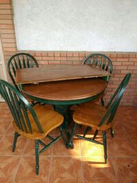 brown wooden table with four chairs Bakersfield, 93305