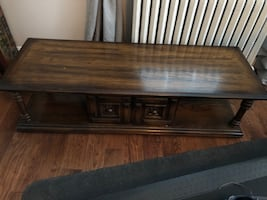 Solid wood Brown wooden coffee  table