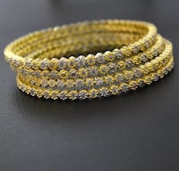 $15 each 22k gold plated zirconium bangle size 2.6 and2.8 available  Brampton, L6Y 0Y8