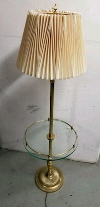 Vintage floor lamp / end table