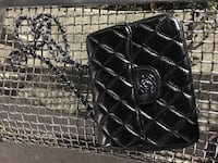 black leather quilted crossbody bag Calgary, T2Y