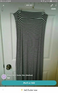 white and black striped maxi skirt Van Buren, 72956