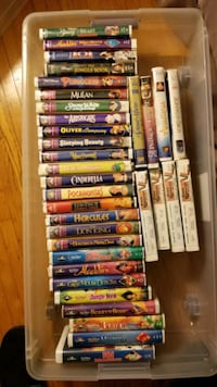 35 (mostly) Disney VHS tapes
