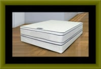 Queen mattress double pillow top with box spring UNIVERSITY PA, 20782