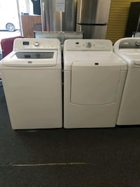 Maytag electric top load set washer and dryer