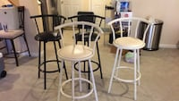 Two white wooden bar stools Germantown, 20876