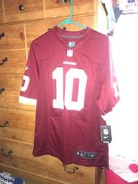 Red and white nfl jersey shirt Union City, 94587