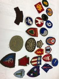 WWII War War II Military Patches 140+ Italy Canada POW ......