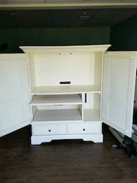 white wooden TV armoire New Freedom, 17349