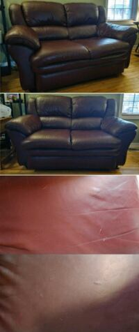 Leather love seat Gatineau