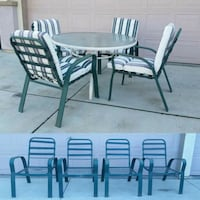 Patio Furniture Table Set with 4 Chairs Mesa Modesto, 95351