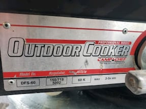 Camp Chef model DFS 60 professional outdoor cooker