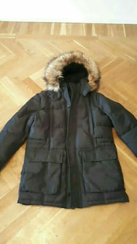 svart zip-up parka jacka غوتنبرغ, 415 21