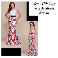 New With Tags Size Medium 2 Piece Gown $77.50 Indianapolis