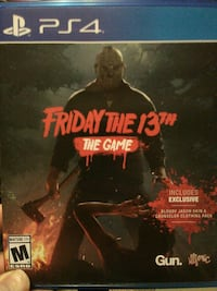 Sony PS4 Friday the 13th game case
