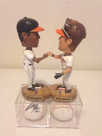 Autographed Melvin Mora Bobblehead & Ball With Complimentary Brian Roberts Bobble & Ball Greenbelt, 20770