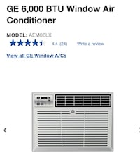 GE Air Conditioner 6000 BTU New in box